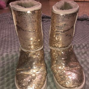 UGG Silver Sequin Boot